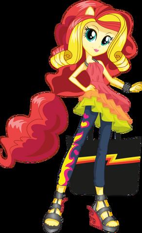 File:Sunset Shimmer Rainbow Rocks character bio art.png