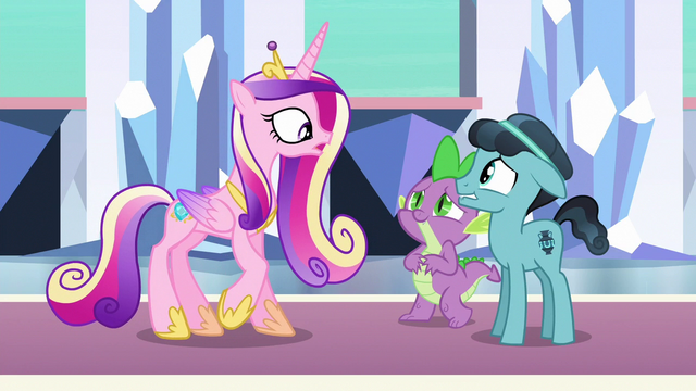 """File:Cadance """"any friend of Spike the Brave and Glorious"""" S6E16.png"""