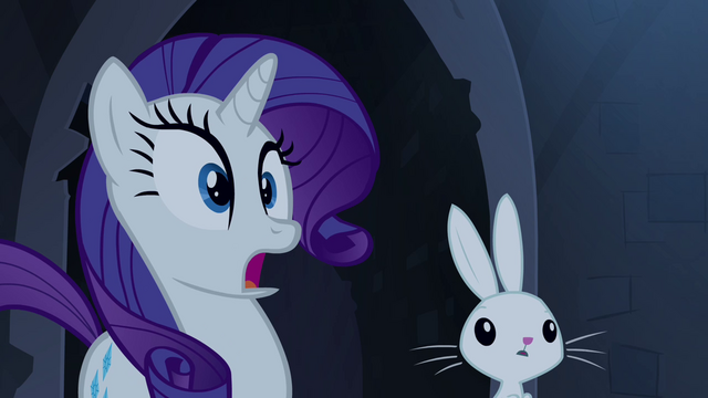 File:Rarity and Angel surprised S4E03.png