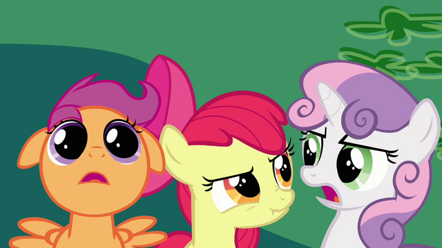 File:Cutie Mark Crusaders disgusted S2E17.png