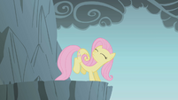Fluttershy getting ready to jump S1E07