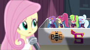 Fluttershy looking at angry Shadowbolts EG3