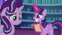 Starlight Glimmer saying Sunburst's name S6E1