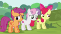 Cutie Mark Crusaders in halfhearted agreement S6E14.png