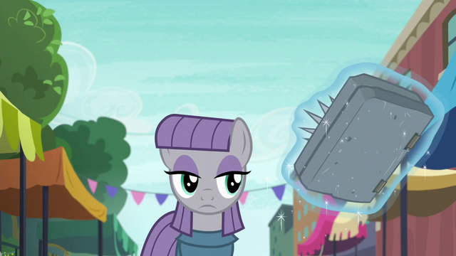 File:Maud Pie looking at stone spell book S6E3.png