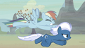 Rainbow Dash slower than Night Glider S5E2.png