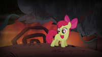 Apple Bloom looking back to chimera S4E17