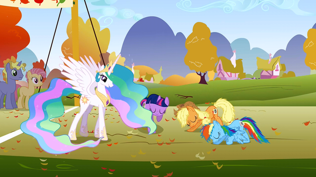 File:Celestia greeting herself S1E13.png