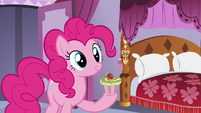Pinkie with another cupcake on her hoof S5E14