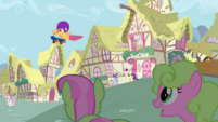 Scootaloo jumping off ramp S3E6