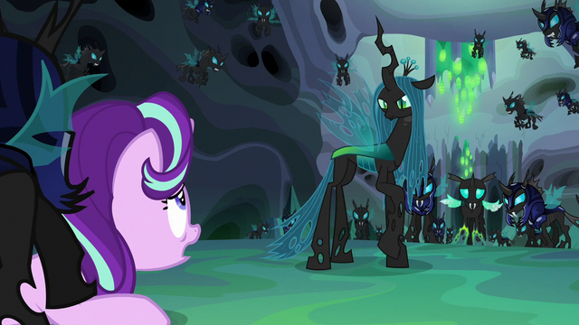 "File:Starlight Glimmer ""left the hive and made a friend"" S6E26.png"