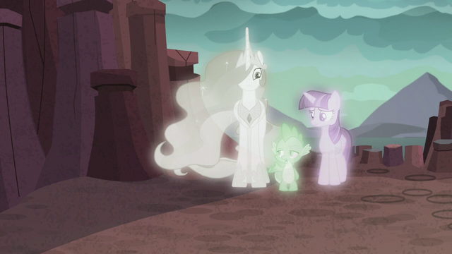"""File:Spike """"that doesn't sound anything like"""" S7E1.png"""