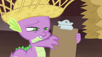 "Spike reading ""Apple Jewel"" S4E13"