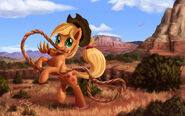 FANMADE Applejack at canyon