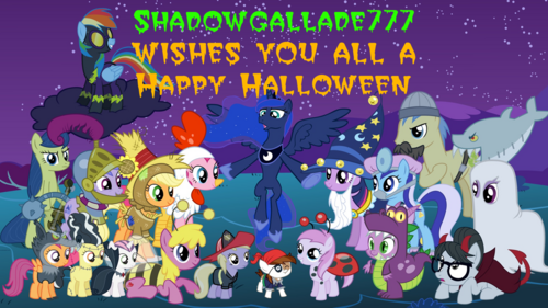 FANMADE Shadowgallade777 Wishes You All Happy Halloween