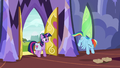 Rainbow tosses her saddlebags on the floor S6E24.png