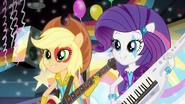 Applejack and Rarity singing EG2