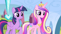 "Twilight and Cadance ""are you all right?"" S4E24"