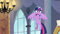 Twilight worried while flying up 3 S4E01