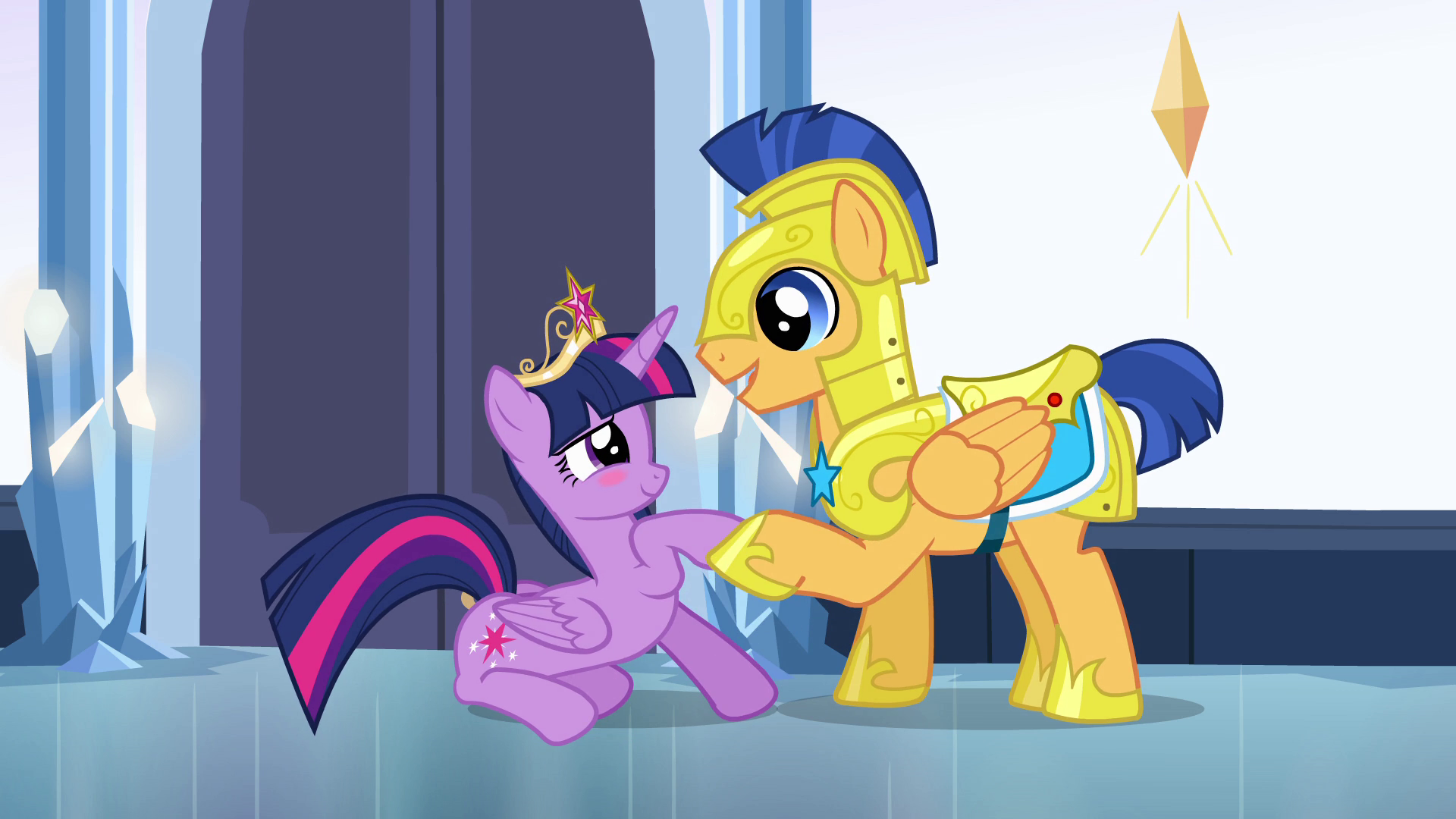 My Little Pony Friendship Is Magic Twilight Sparkle And Flash Sentry Kiss