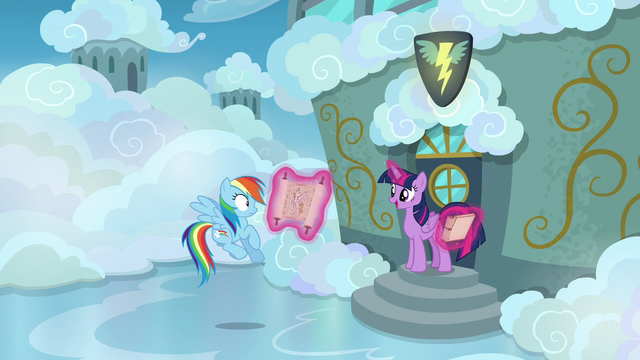 File:Twilight and Rainbow outside the cadet classroom S6E24.png