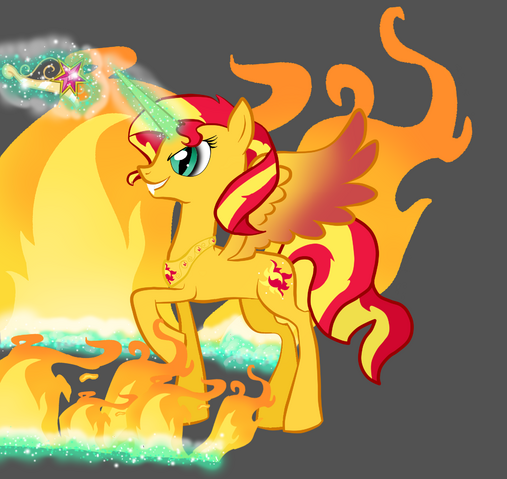 File:FANMADE Sunset shimmer alicorn by selisuflyer.png