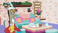 Discord in his redecorated house S7E12