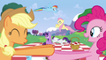 Everypony excited about the wedding S2E25.png