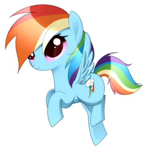 File:FANMADE little Rainbow Dash.png