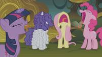 Main 4 ponies yelling S01E09