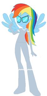 FANMADE Rainbow Dash Human Uniform (Rainbow Falls)