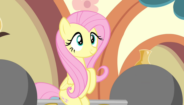 File:Fluttershy sitting on a barbell S4E24.png