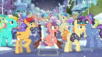 Crystal Ponies gasp in shock S6E2