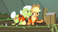 Granny Smith assuring Applejack S4E09