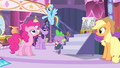 Rainbow 'and decorations in the town square!' S4E13.png
