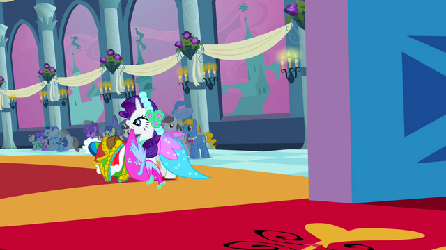 File:Rarity about to drop the dresses S2E26.png