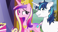 Shining Armor looking embarrassed S7E3