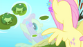 Fluttershy sees her reflection in the water S4E14.png