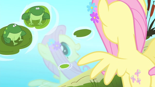 File:Fluttershy sees her reflection in the water S4E14.png