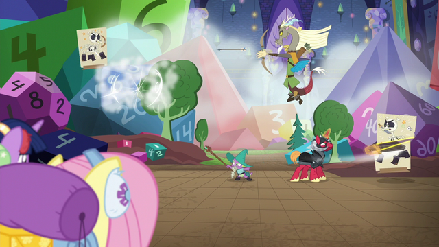 File:Ponies watch Discord, Spike, and Big Mac play S6E17.png