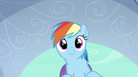 Rainbow Dash about to soar away S3E2