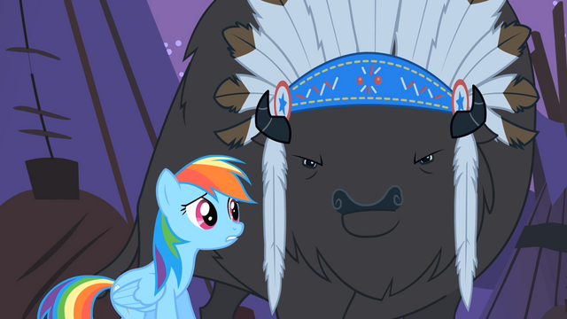 File:Rainbow Dash tries to reason with Thunderhooves S01E21.png