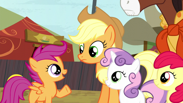 File:Scootaloo defending Trouble Shoes S5E6.png