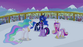 Celestia, Luna and Cadance singing around Twilight S4E25.png