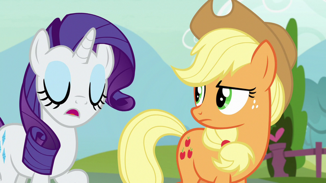 """File:Rarity """"it's just Strawberry's honest opinion"""" S7E9.png"""