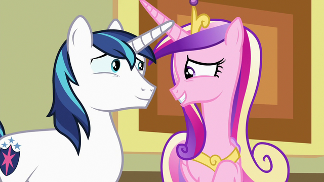 File:Cadance and Shining Armor fondly reminiscing S7E3.png
