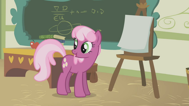 File:Cheerilee talking in front of class S1E12.png