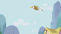 Gilda looping through the air S1E05
