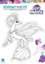 MLP The Movie activity sheet - Queen Novo cutout