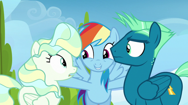 """File:Rainbow Dash """"two of the greatest flyers"""" S6E24.png"""
